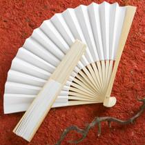 Elegant White Folding Fans