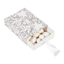 12 x Silver Wedding Pull Favour Boxes