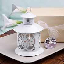 Fabulous White Metal Lantern Favour