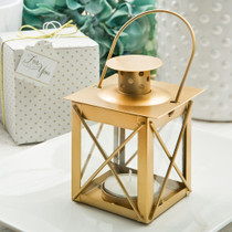 Love lights The Way Luminous Lantern in A Matte Gold Finish