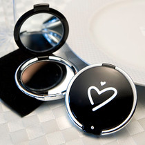 Styling Black Heart Design Compact Mirror Favours