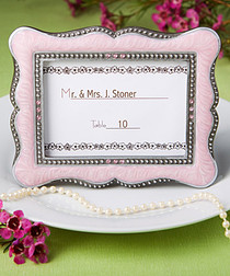 Victorian Design Frame, Place Card Holders Pink