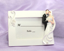 Elegant Bride And Groom Design Place Card Frame