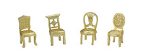 Matte Gold Place Card Chairs