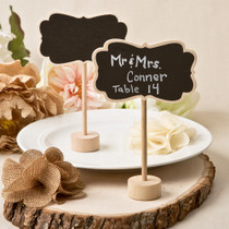 Rustic Chalk Board Place Card Holder From White Dream