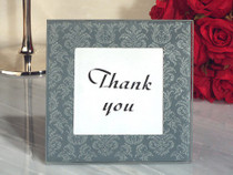Classic Design Damask Glass Photo Frame