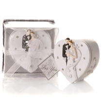 Elegant Bride And Groom Trinket Box