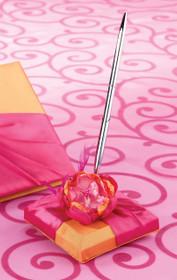 Hot Pink Orange Pen Set