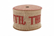 Do Not Open Until 25th December Jute Ribbon 3M
