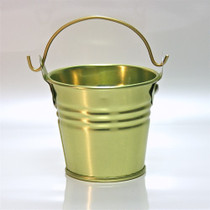 "2"" Galvanised Pail With Handle Gold"