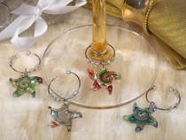 Murano Art Deco Collection Starfish Wine Charms
