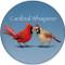 Cardinal Whisperer Sandstone Ceramic Coaster | Bird Coaster | Front