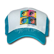 SqWarhol Teal Trucker Hat