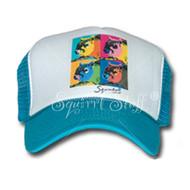 SqWarhol Teal Trucker Hat | Squirrel Hat