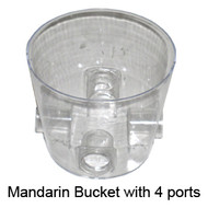 Bucket with 4 Ports, for the Mandarin Bird Feeder