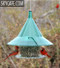 Emerald Green SkyCafe Bird Feeder
