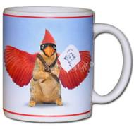 Feed the Cardinal Squirrel Mug