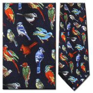 Wild Birds of the World Silk Tie