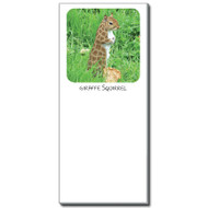 Giraffe Squirrel Notepad