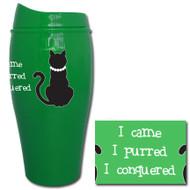 I came, I purred, I conquered Tumbler | Funny Cat Travel Mug