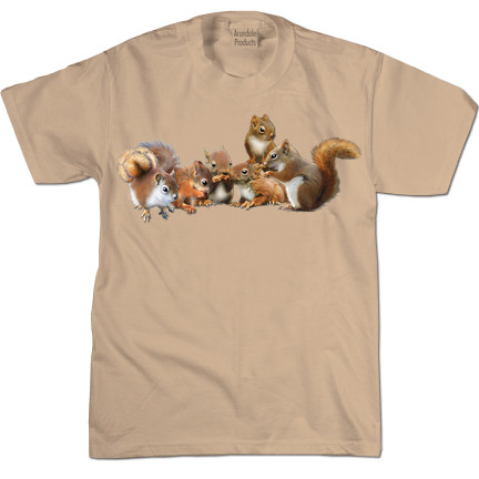Baby Squirrels T-shirt | 100% Cotton | Natural