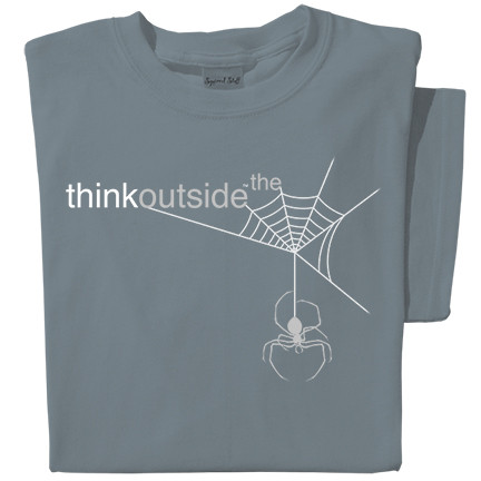 Organic Cotton Spider Web T-shirt | ThinkOutside | Think Outside the Web tee