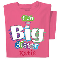 Big Sister Personalized Youth T-shirt