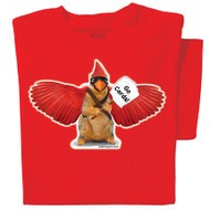 Rally Squirrel! Go Cards! on red tshirt