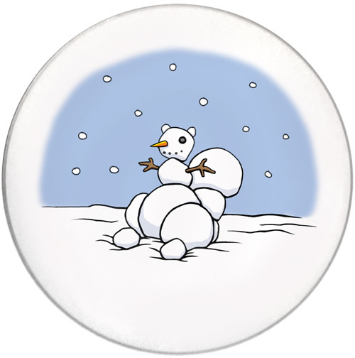 Snowman Squirrel Coaster   Christmas Coaster   Front
