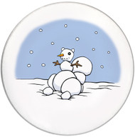 Snowman Squirrel Coaster | Christmas Coaster | Front