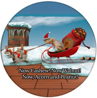 Christmas Sleigh Squirrels Coaster | Christmas Coaster | Front