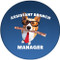 Assistant Branch Manager Corgi Sandstone Ceramic Coaster | Dog Coaster | Front