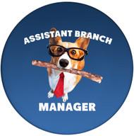 Assistant Branch Manager Sandstone Ceramic Coaster | Dog Coaster | Front