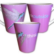 Dragonfly Latte Mug | Think Outside | 12 oz. ceramic