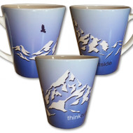 Mountain Latte Mug | Think Outside | 12 oz. ceramic