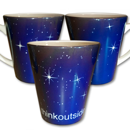 Stars Latte Mug | Think Outside | 12 oz. ceramic