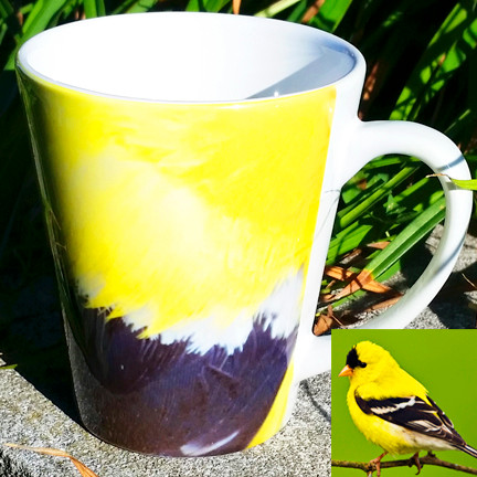 Goldfinch Latte Mug | 12 oz. ceramic