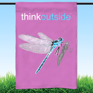 ThinkOutside Dragonfly Garden Flag