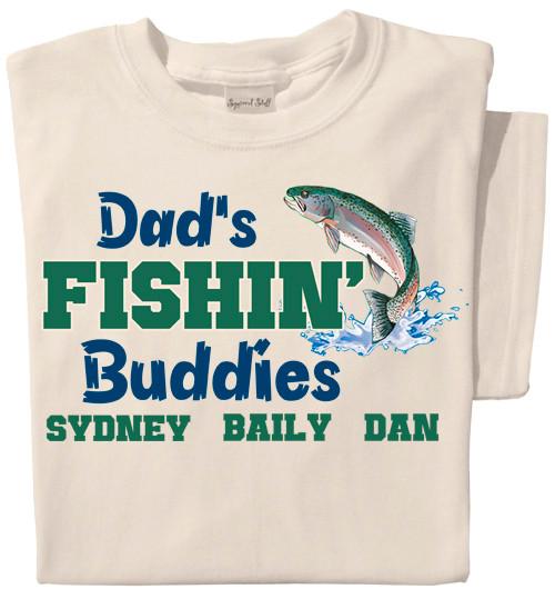 Dad's Fishin' Buddies | Personalized Adult Sized T-shirt
