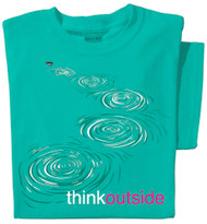 Organic Cotton Stone Skip Ladies T-shirt | ThinkOutside t