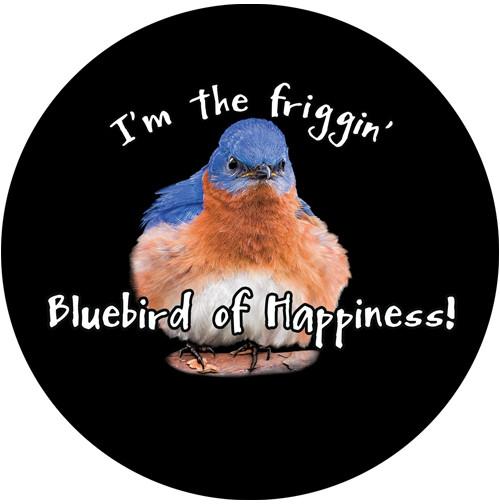 I'm the Friggin Bluebird of Happiness Sandstone Ceramic Coaster | Front