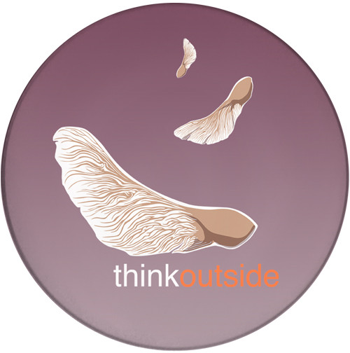 ThinkOutside Maple Seeds Ceramic Coaster | Helicopter Seeds | Front