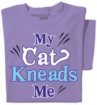 My Cat Kneads Me | Funny Cat T-Shirt | Violet | 100% Cotton
