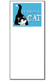 It Takes a Cat Notepad | 50 Sheets | Magnetic