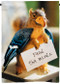 Feed the Birds   Funny Squirrel Outdoor Flag   2' x 3'   100% polyester