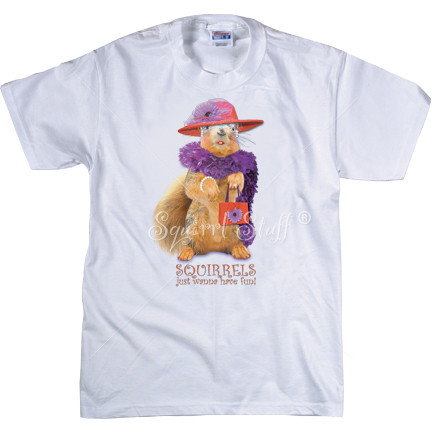 Red Hat Squirrel T-shirt