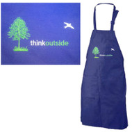 Think Outside Tree Embroidered Apron | Royal Blue | Cotton/Polyester