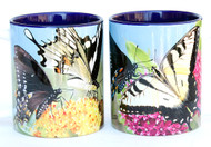 Variety Butterfly Mug with Swallowtail Butterflies on Pink & Orange Flowers | 11 oz. Ceramic