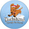 Dachshund Through the Snow Sandstone Ceramic Coasters | 4pack | Front