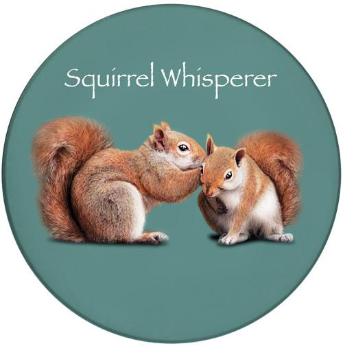 Squirrel Whisperer Ceramic Coaster | Front